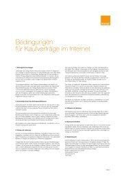 Bedingungen für Kaufverträge im Internet - Orange