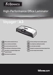 Voyager A3 Bedienungsanleitung - Fellowes