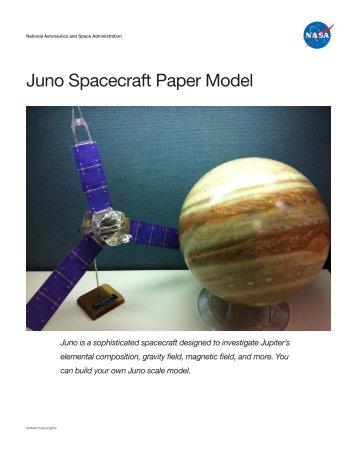 Juno Spacecraft Paper Model - New Frontiers - NASA