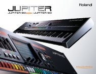 JUPITER Series Brochure - Roland