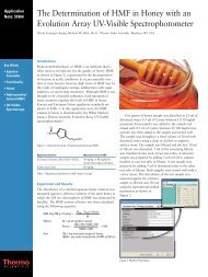 The Determination of HMF in Honey with an Evolution Array UV ...
