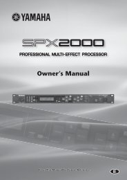 SPX2000—Owner's Manual - ARGEkultur