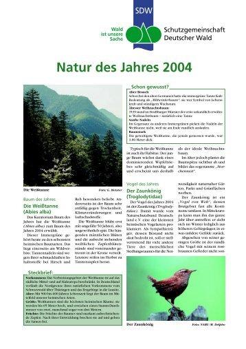 Natur des Jahres 2004 - Schutzgemeinschaft Deutscher Wald
