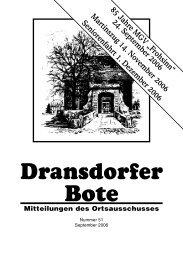 51/2006 - Ortsausschuss Bonn-Dransdorf