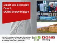 Export and Bioenergy Case 1: DONG Energy Inbicon - Bioenergi - DI