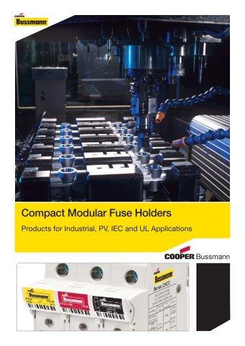 Compact Modular Fuse Holders - Cooper Bussmann