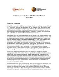 Unified Communications & Collaboration Market ... - UCStrategies.com