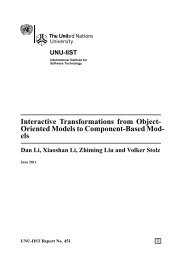 Interactive Transformations from Object-Oriented Models to ...