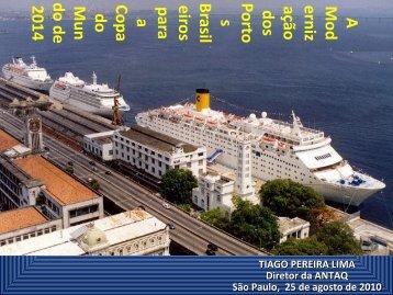 navios de cruzeiro - Antaq