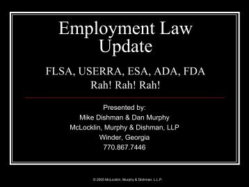 Employment Law Update - Ciclt.net