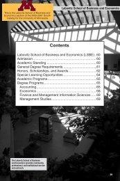 Labovitz School of Business and Economics - University Catalogs ...
