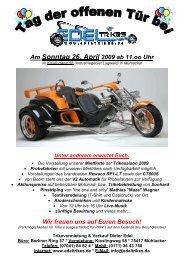 Flugblatt TDOT 2009 - Trikevermietung Dieter Edel