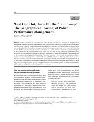 """'Last One Out, Turn Off the """"Blue Lamp""""': The ... - Policing"""