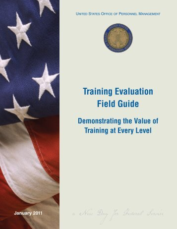 Training Evaluation Field Guide - Office of Personnel Management