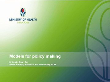 Models for policy making - What is Health Services and Systems ...