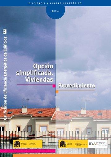 Opción simplificada. Viviendas [PDF]