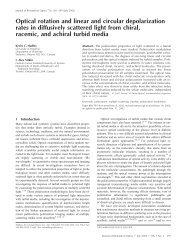 Optical rotation and linear and circular depolarization rates in ...