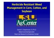 Herbicide Resistant Weed Management in Corn, Cotton, and Soybean