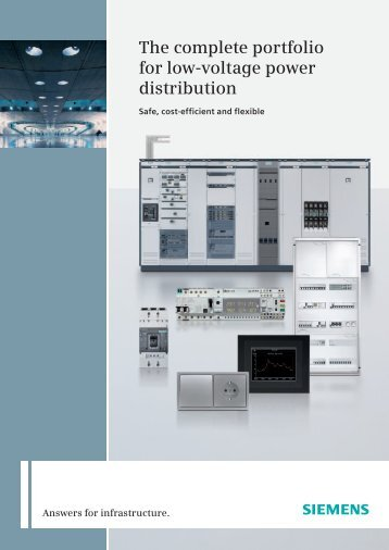 The complete portfolio for low-voltage power distribution - Siemens
