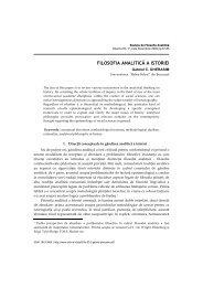 Filosofia analitica a istoriei - Societatea Română de Filosofie Analitică