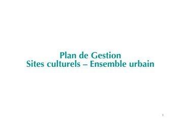 Plan de Gestion Sites culturels – Ensemble urbain - Qualicities