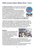 PADI (Junior) Open Water Diver - Kurs - Tauchbasis Schwerelos - Seite 6