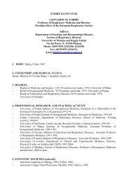 CURRICULUM VITAE LEONARDO M. FABBRI Professor of ...