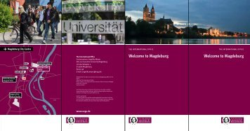 Welcome to Magdeburg Welcome to Magdeburg
