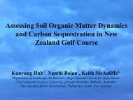 Assessing Soil Organic Matter Dynamics and Carbon Sequestration ...