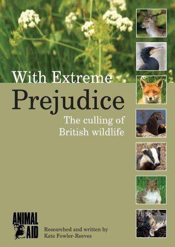 Read With Extreme Prejudice - Animal Aid