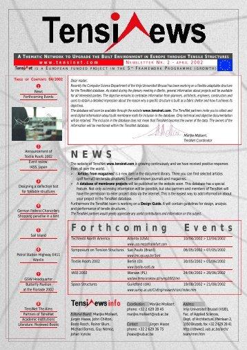 TensiNews 2 - April 2002 - TensiNet