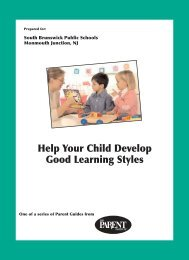 Help Your Child Develop Good Learning Styles - South Brunswick ...