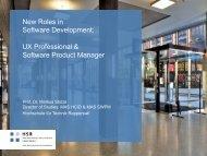 New Roles in Software Development: UX Professional ... - GOTOcon