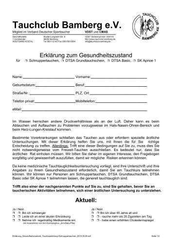 Aktuell - Tauchclub Bamberg eV