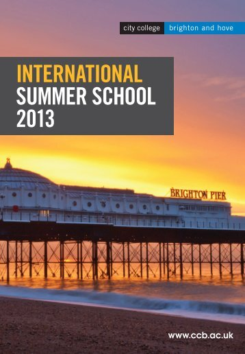 International Summer School 2013 Brochure - City College