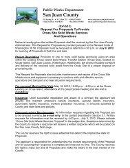 Request for Proposal - Orcas Site SW Services ... - San Juan County