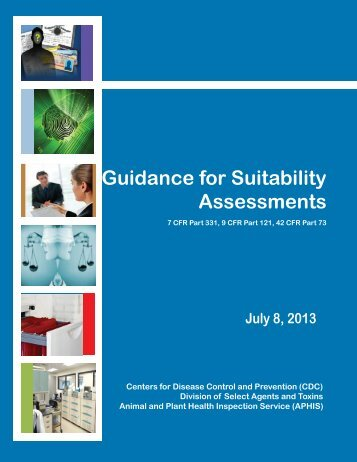 Guidance for Suitability Assessments - Select Agent Program