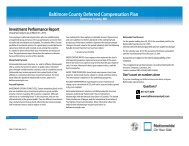 Baltimore County Deferred Compensation Plan - For Financial ...