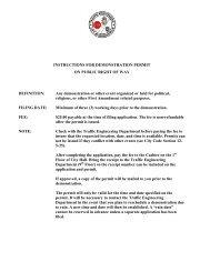 Demonstration Permit on Public Right of Way - Birmingham