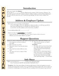 Introduction Address & Employer Update Rapport Questions Info ...
