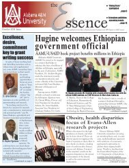 The Essence Online Research Newsletter 2011 - Alabama A&M ...