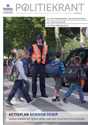 ActieplAn Schoon Schip - Lokale Politie