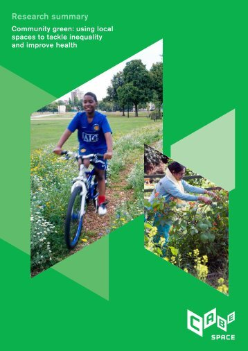 Community green: using local spaces to tackle inequality and ...