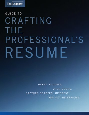 Professional Resume Advice and Sample ... - Career Services