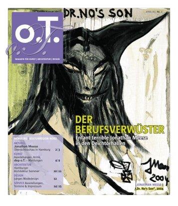 22. April 2006 um 19.30 Uhr Lecture-Konzert - Das Magazin für ...