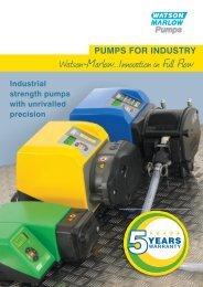 Pumps for industry (UK)(PDF : 2826.9 KB) - Watson-Marlow