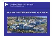 Katedra elektroenergetiky a ekologie - Západočeská univerzita v Plzni