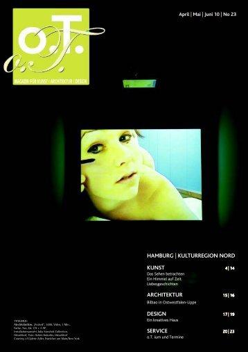 Wir drucken Kunst - Das Magazin für Kunst, Architektur und Design