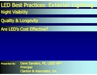 LED Best Practices : Exterior Lighting - Architectural SSL
