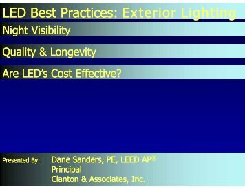 LED Best Practices : Exterior Lighting - Architectural SSL